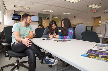 picture of Centennial College Advertising Media Management program students in a class