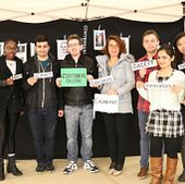 picture of Centennial College engineering students at the 2016 National Engineering Month event at Progress Campus
