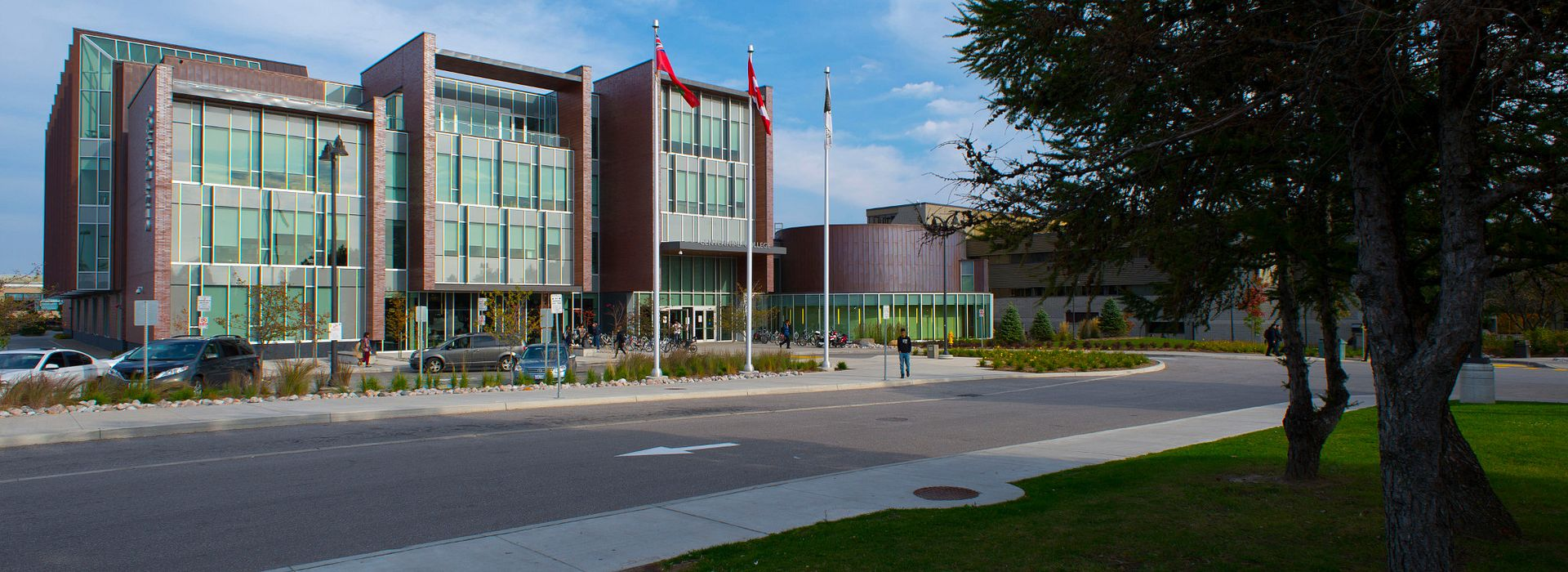 picture of the Centennial College program campus library entrance