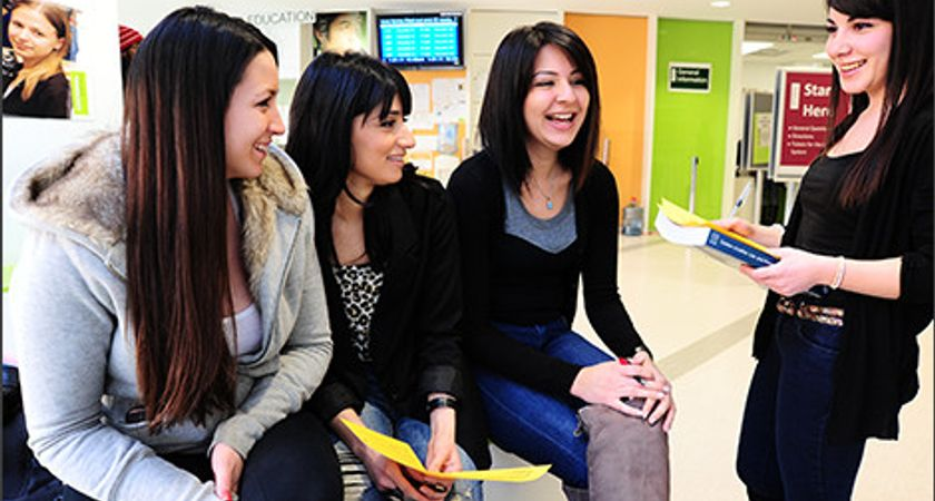 Picture of students in the Hub