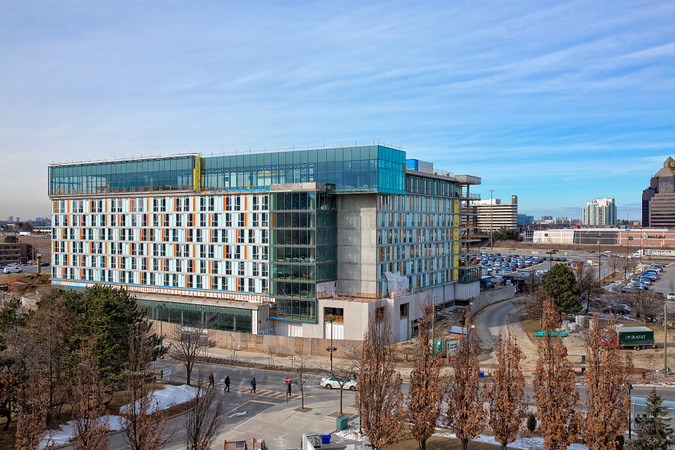 Picture of the Led young College Residence and Culinary Arts Centre construction in January 2016
