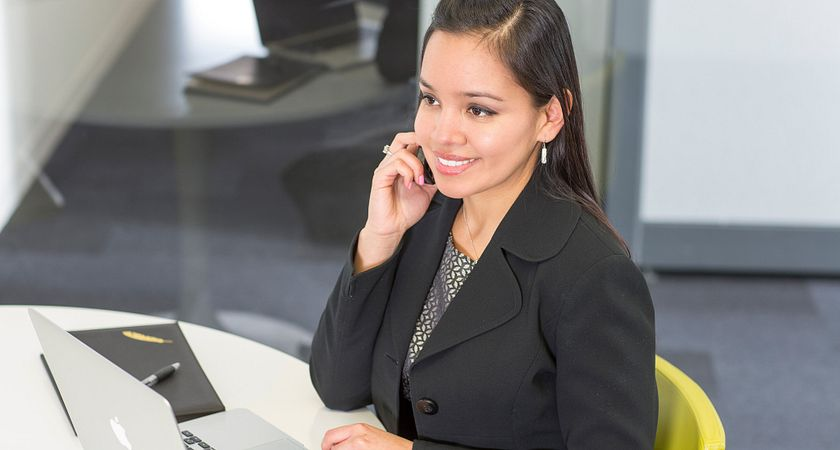 Image of business student working