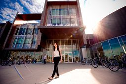 picture of Centennial College International Student outside Progress Campus