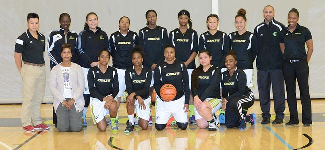Centennial College COLTS 2014 Womens Basketball team.
