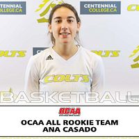 Picture of Centennial College Project Managment program student Ana Casado who received the OCAA All Rookie Team award