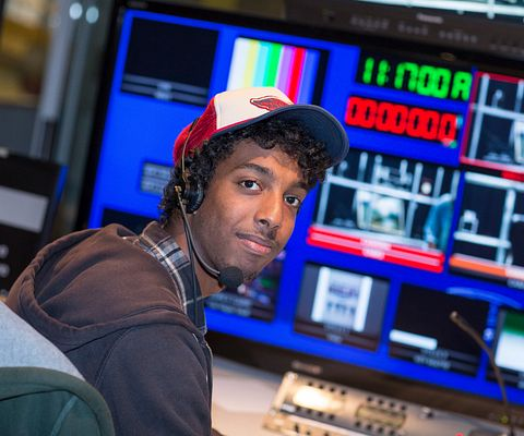 control room with male student pic 1