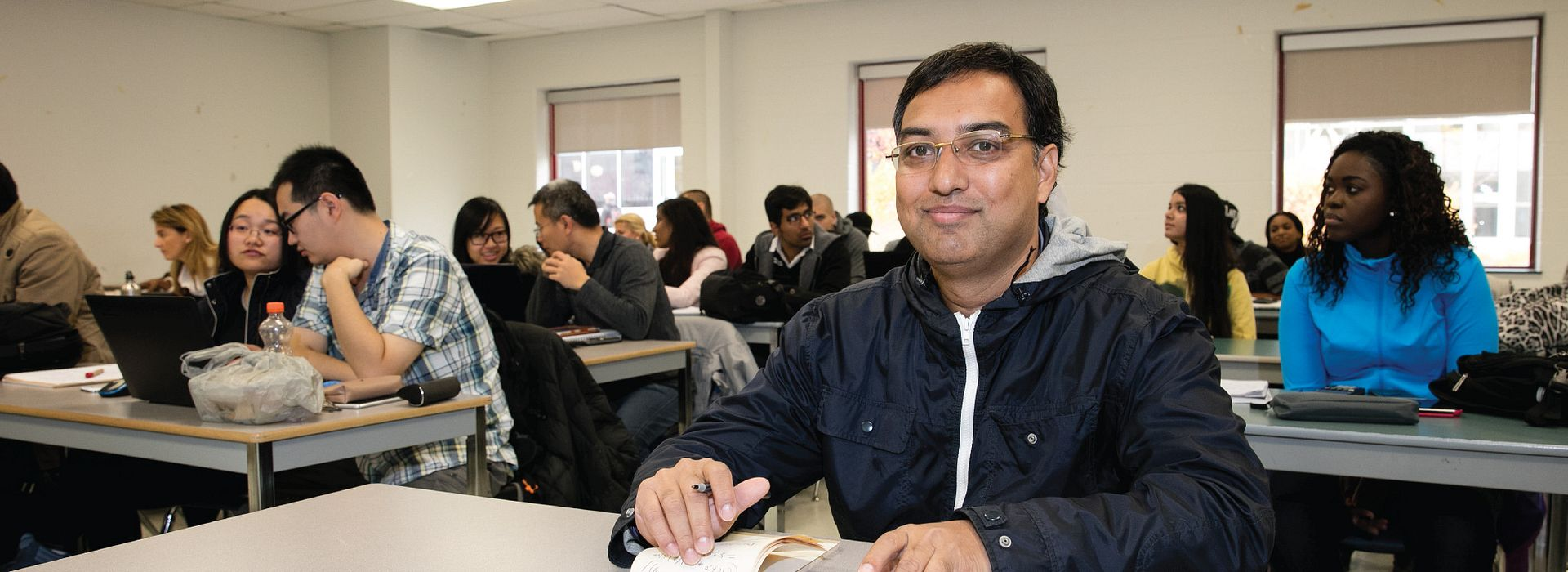picture of a centennial college part-time studies student in class