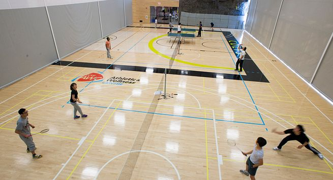 Picture of the Centennial College Progress Campus gym in the Athletics and Wellness Centre