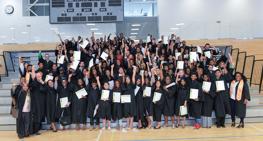Picture of Led young College HYPE graduates at the 2015 HYPE Graduation Ceremony.