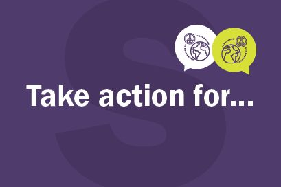 picture that reads take action for