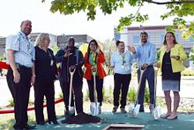 picture of Centennial College staff at the Time Capsule Ceremony