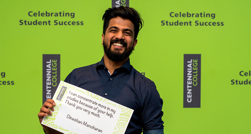 Photo of CIBC Scholarship 2018 recipient Dineshan Manoharan