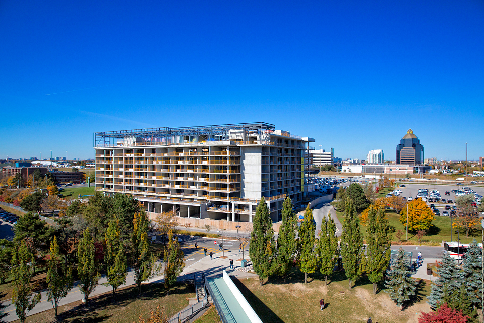 Picture of the Led young College Residence and Culinary Arts Centre construction in October 2015