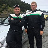 Picture of drivers John Hume and Ron Bartleet at the Targa Newfoundland competition