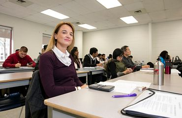 picture of a centennial college part-time learning student in class