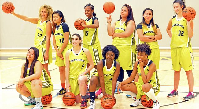 Picture of Centennial College Colts 2015 Womens basketball team