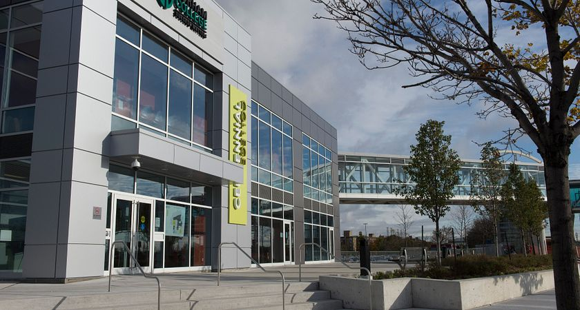 picture of the centennial college pickering learning site campus entrance