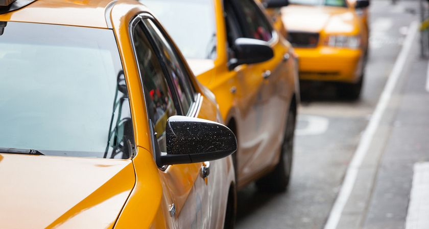 Photo of taxi cabs