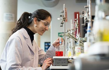 Picture of Centennial student in a lab