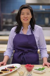 picture of Centennial College eCooking Chef Sally Chiu-Hildebrandt in the kitchen studio
