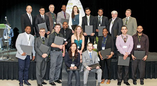 Picture of the Centennial College Colts coaches of 2014-2015