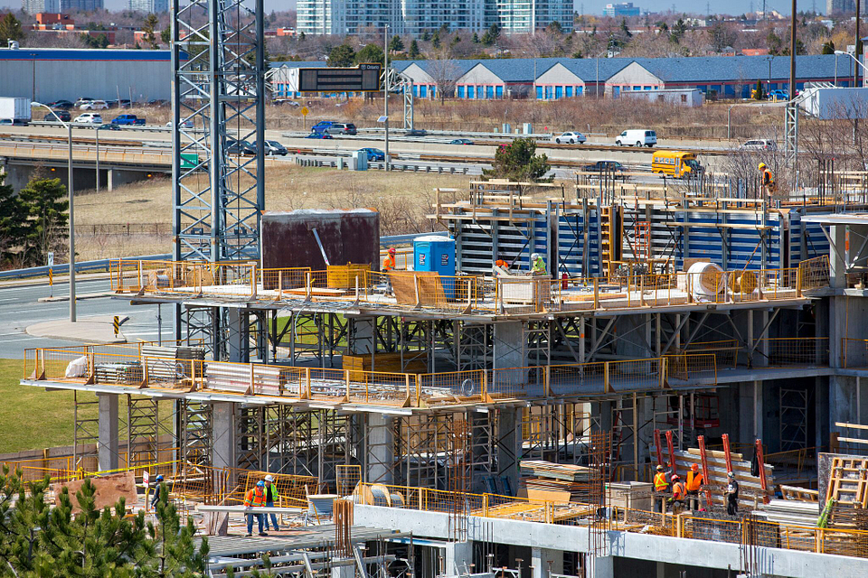 Centennial College Residence and Culinary Arts Centre construction in April 2015