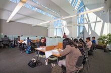 Picture of Centennial College Students inside the Progress campus library