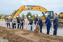 picture of the centennial college residence and culinary arts centre groundbreaking ceremony at progress campus