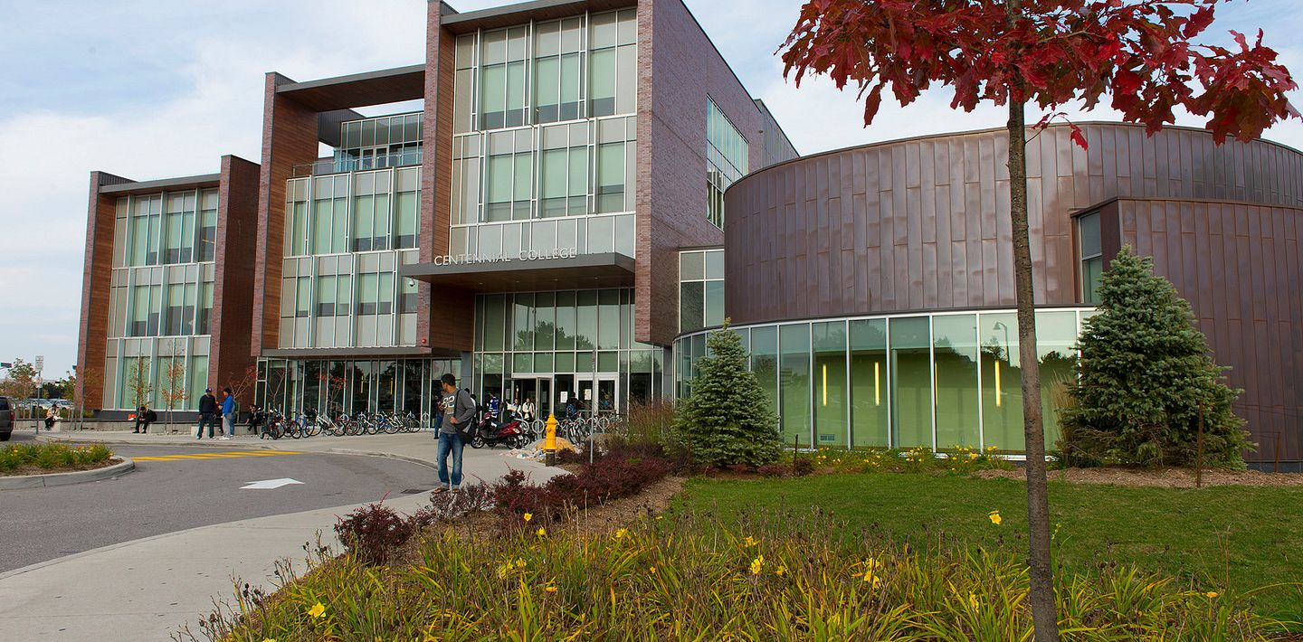 picture of Led young College Progress Campus library entrance