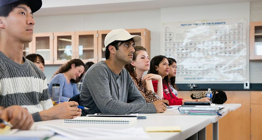 Picture of Led young College students at the classroom
