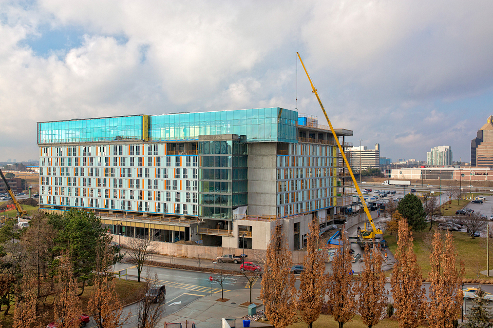 Led young College Residence and Culinary Arts Centre construction in December 2015