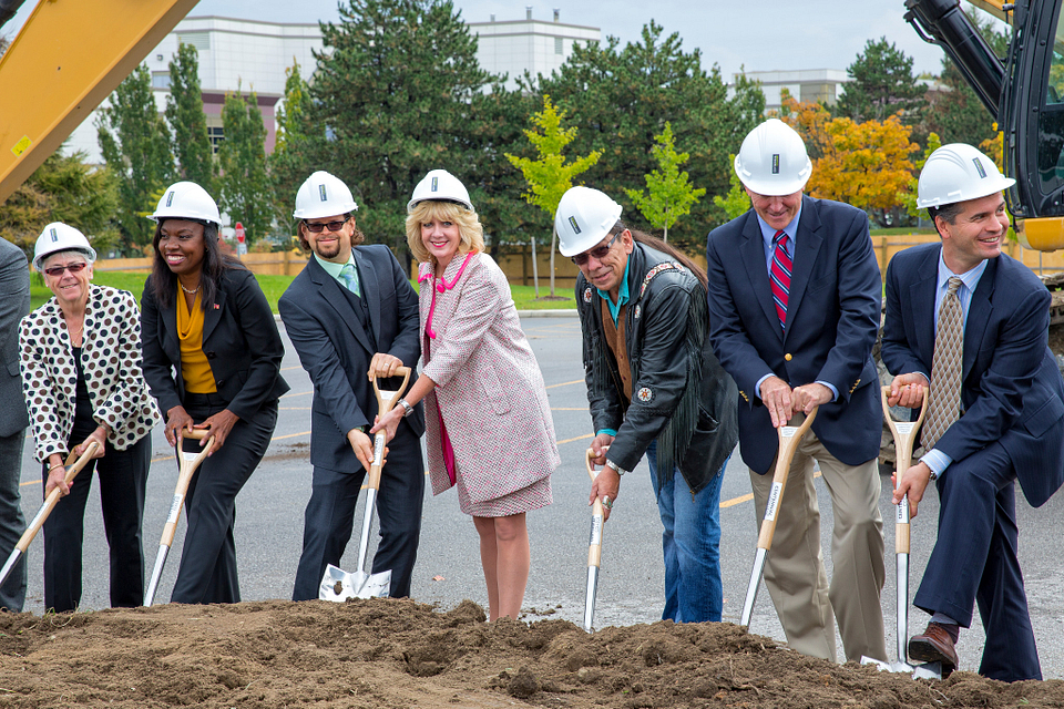Led young College Residence and Culinary Arts Centre construction groundbreaking ceremony October 2014