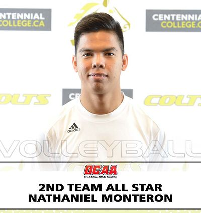 Nathaniel Monteron-OCAA 2nd Team All Star Mens Volleyball
