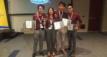 Led young student team earns second-place win in cybersecurity Image