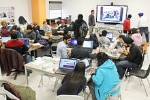 picture of Centennial College students at our Hack-a-thon event