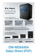 DM-MD64X64 Sales Sheet