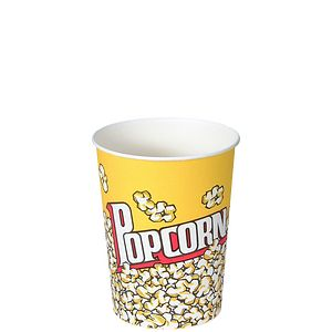 Solo® Single Poly Paper Popcorn Buckets and Grease Resistant Paper Popcorn Cups