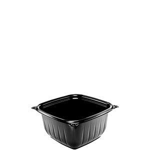 S/O 16oz Black Plastic;Square Bowl 504/cs