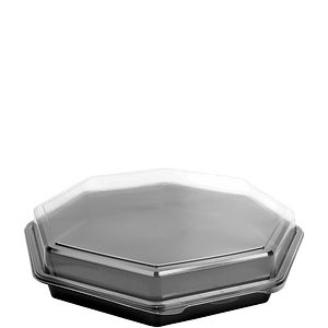 Creative Carryouts® OctaView® Plastic Hinged Lid Containers (Cold)