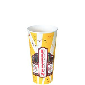 Solo® Paper Popcorn Buckets and Solo® Grease-Resistant Paper Popcorn Cups