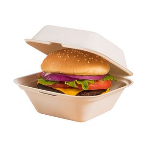 Bare® by Solo® Bagasse (Sugarcane) Hinged Containers