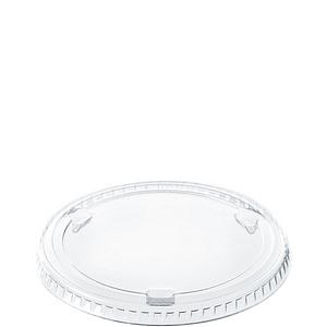 Solo® PET Plastic Non-Vented Flat Food Container Lids