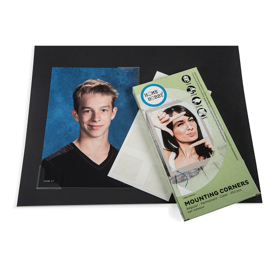 "Gaylord Archival® 1 1/4"" Clear Self-Adhesive Polypropylene Photo Corners (250-Pack)"
