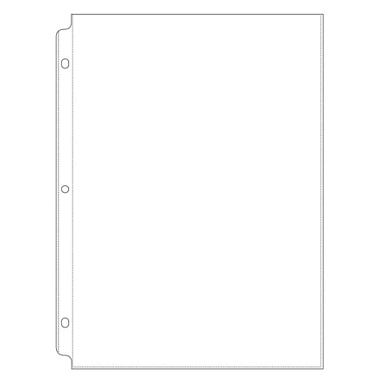"We R Memory Keepers Extra Page Protectors for 1 1/2"" D-Ring Faux Leather Album (10-Pack)"
