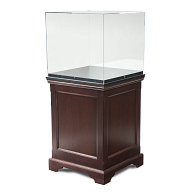 Gaylord Archival® Hudson™ Chester Recessed Panel Pedestal Exhibit Case with UV Acrylic & Humidity Control