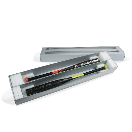 Gaylord Archival® E-flute Clear Lid 2-Baseball Bat Box