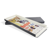 Gaylord Archival® Blue/Grey Barrier Board Drop-Front Archival Insert Sheet Poster Box