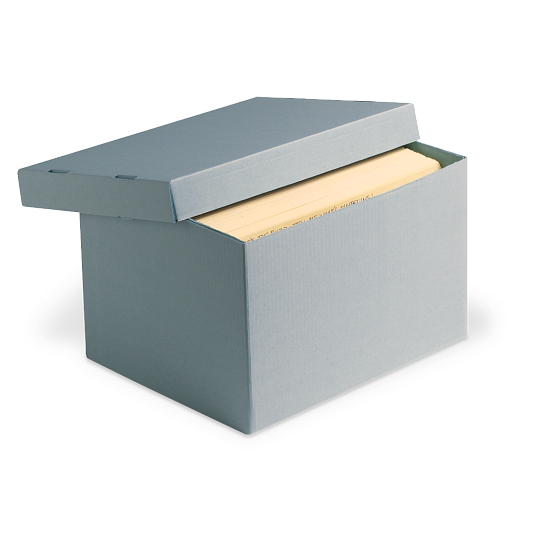 Gaylord Archival® Blue Classic Record Storage Carton without Handholds