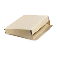 Gaylord Archival® Tan Barrier Board Drop-Front Deep Lid Archival Print Box