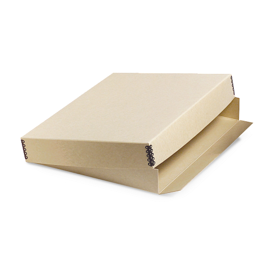 Gaylord® Tan Barrier Board Drop-Front Deep Lid Archival Print Box